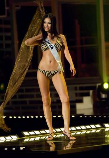 Miss Japan 2007, Riyo Mori, wins the Miss Universe 2007 title at the conclusion of the live NBC broadcast from Mexico City, Mexico.